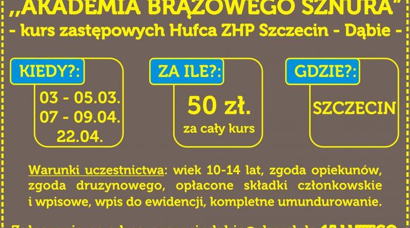 """Kurs Zastępowych """"Akademia Brązowego Sznura"""""""